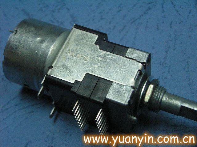 alps电位器方型带马达电位器50kax4