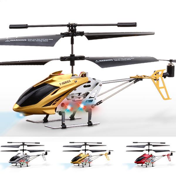 金属机头飞机 95%不打转合金遥控直升飞机模型悬停七彩灯耐摔双速