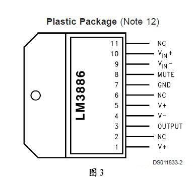 集成电路 系列ic lm系列 全新原装正品lm3886tf集成块 单60w发烧功放