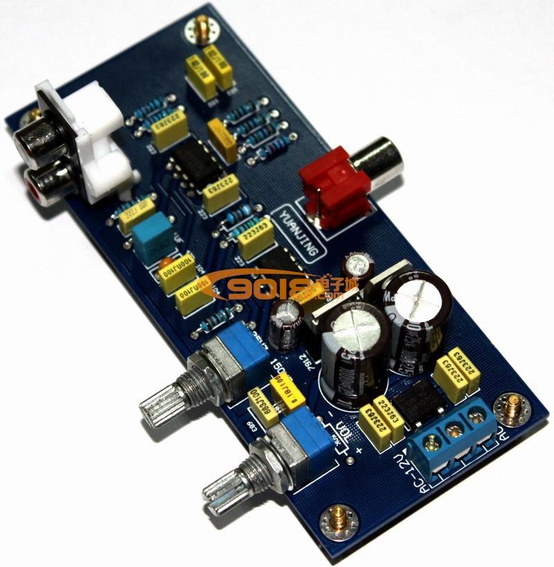 发烧音响 发烧电路 音调板系列 ne5532双声道低通音调板 成品板  ne