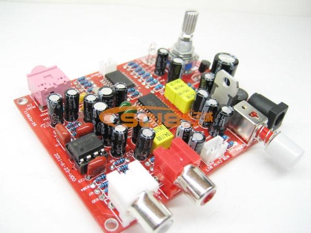 发烧音响 发烧电路 功放板 调音板电子音量 pt7313e ne5532前级放大