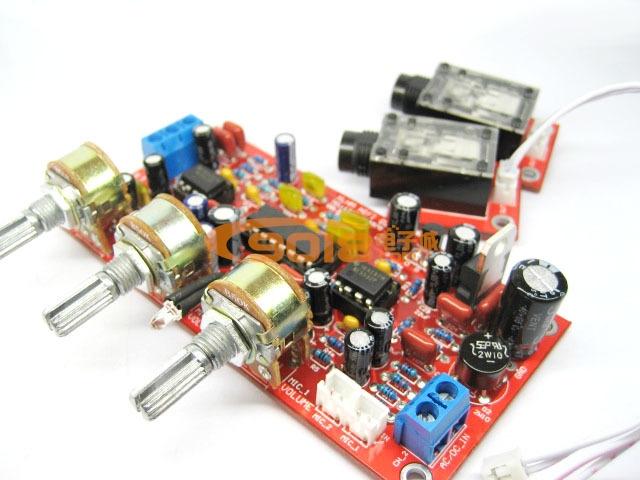 发烧电路 卡拉ok板 卡拉ok板 话放音效板 pt2399 ne5532 前级麦克风