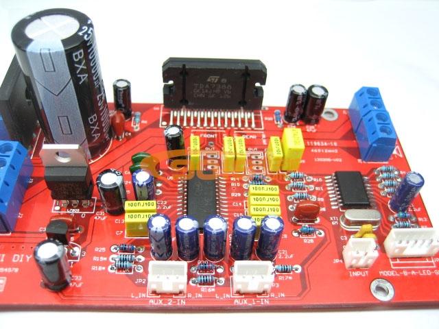 发烧电路 功放板 tda7388四声道功放板散件套件 带前级音效可调汽车