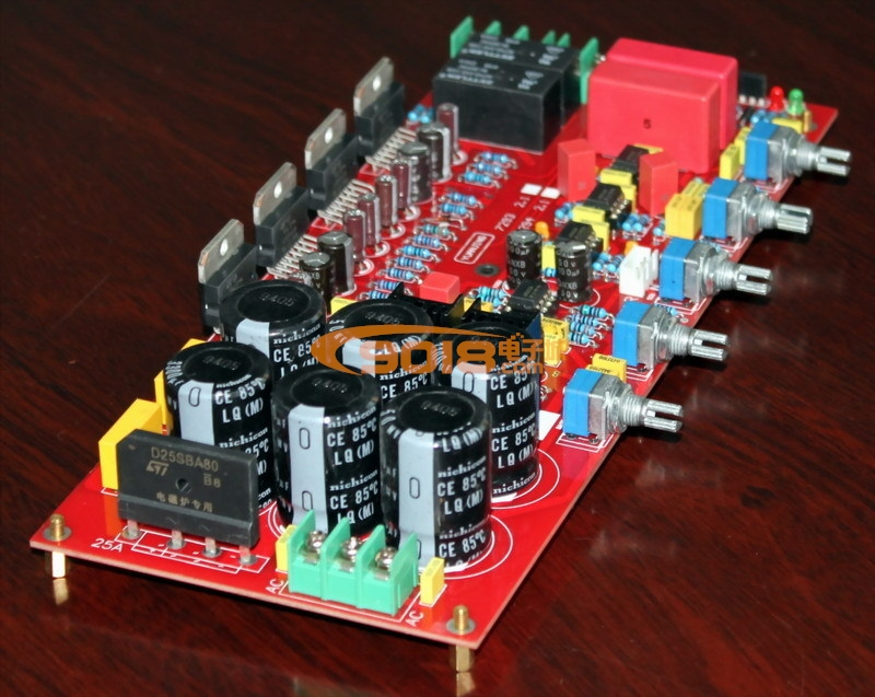 tda7294 2.1三声道低音炮 豪华(升级)功放板(带喇叭保护)