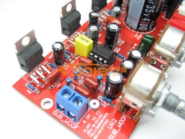 tda2030a ne5532 2.1三声道低音炮功放板散件/diy电子