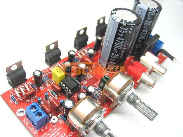 1低音炮功放板套件(成品) ne5532前级