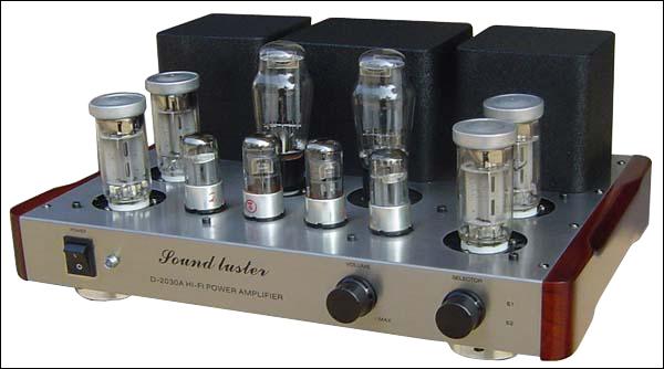 sound luster d-2030a-fu50并联甲类胆机前视图