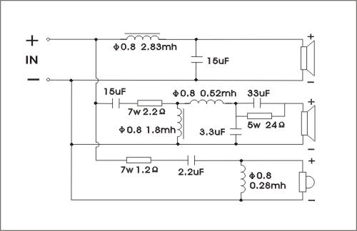 喇叭三分频器电路图