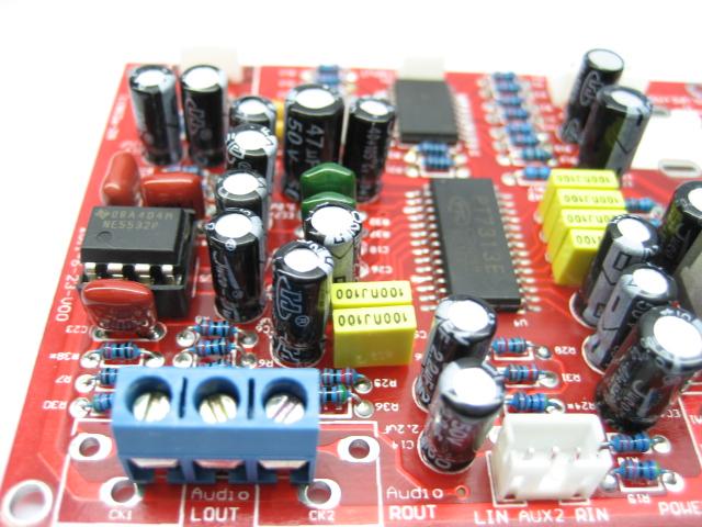 发烧音响 发烧电路 音调板 电子音量音效调音板 音调pt7313e ne5532