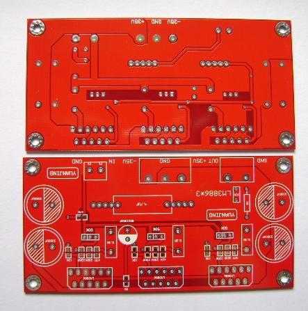 发烧音响 发烧电路 功放板 lm3886*3 150w 并联式单声道功放板空板
