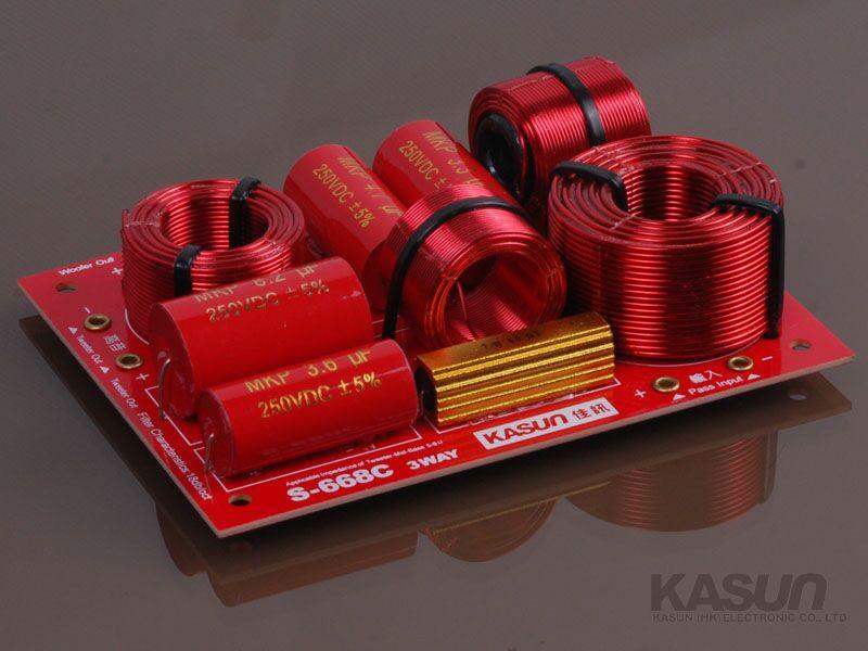 佳讯(kasun)s-668 hi-fi发烧顶级红宝石双低音分频器
