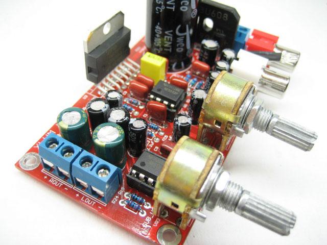 2.1 tda7377功放 重低音三声道低音炮功放板(散件)5532前级