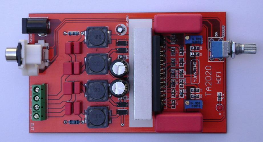 发烧ta2022大功率t类hifi数字功放板(f版)90w*2