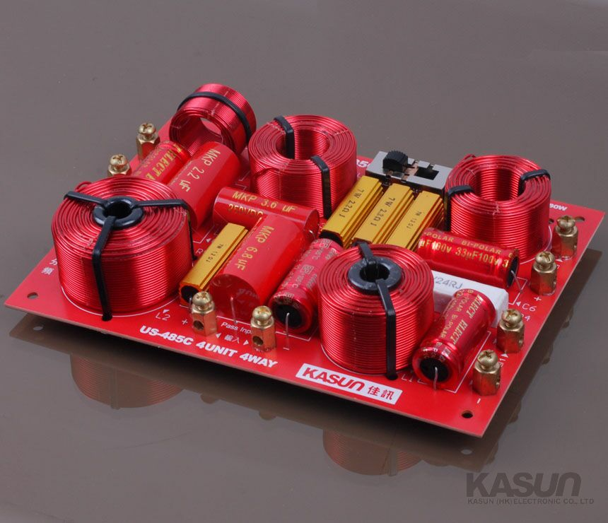 分频器_分频器_音箱分频器_分频器设计; 正品佳讯us-485c发烧双低音三