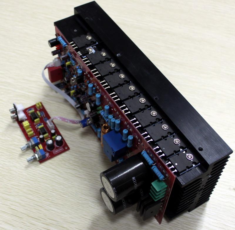 发烧音响 发烧电路 功放板 700w单声道大功率东芝a1943/c5200功放对管