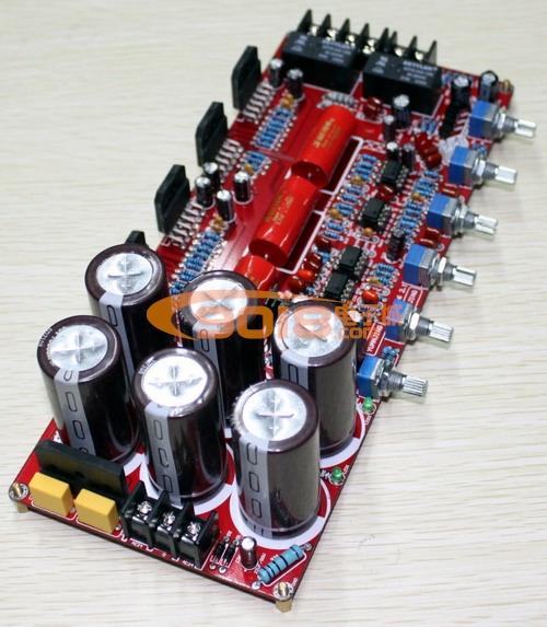 lm3886tf ne5532 经典发烧ic 2.1声道低音炮发烧功放板