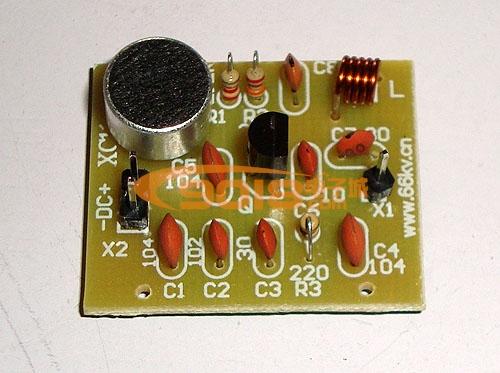 简易无线话筒(fm调频发射)电路电子制作套件/散件