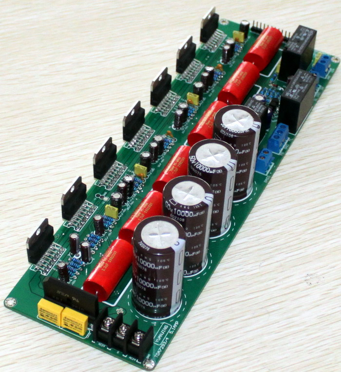 1声道纯后级高保真发烧功放板(5x80w+160w低音炮)