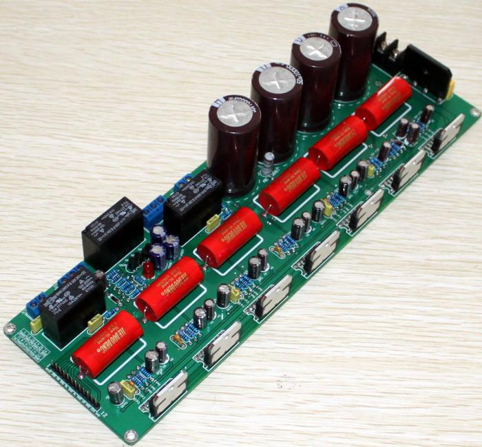 供电:双18-24v交流电 功率:5x80w+160w低音炮 线路板尺寸:275x86mm