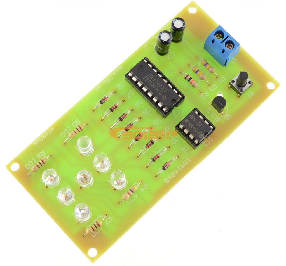 led骰子电路电子制作套件/散件(cd4017+ne555数字电路教学)