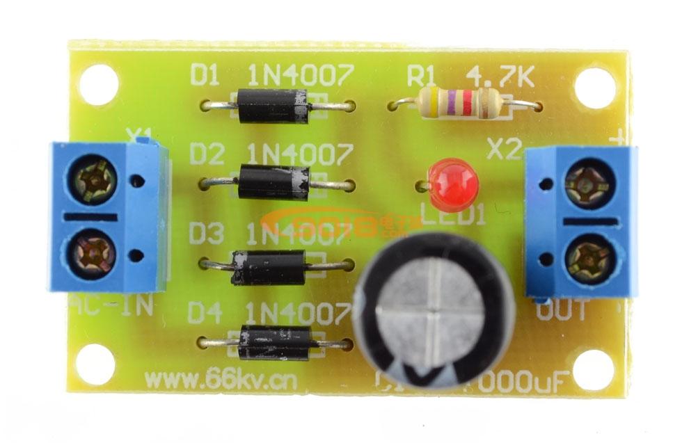 桥式整流电路电子制作套件/散件图片