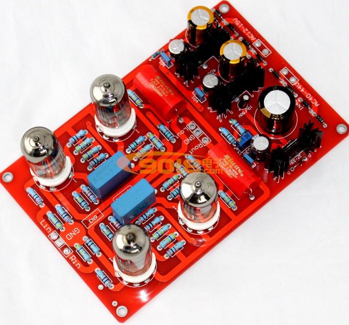 发烧音响 发烧电路 前级板 6n3四管电子管前级板 发烧胆前级成品板  n