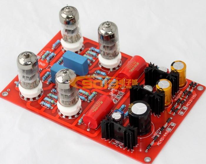 发烧音响 发烧电路 前级板 6n3四管电子管前级板 发烧胆前级成品板
