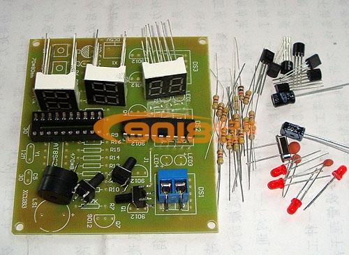 c2051单片机六位数字时钟/秒表/倒计时/计数器电路
