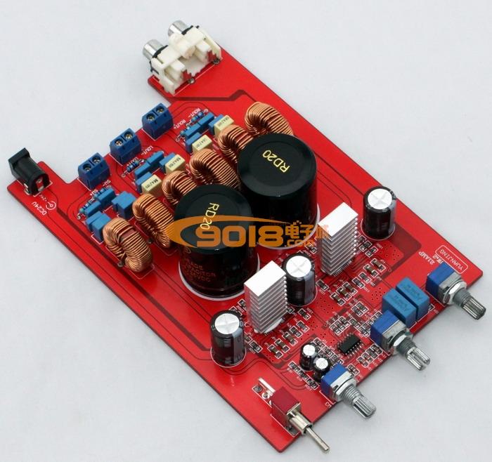 高保真 tpa3116 2.1声道低音炮d类数字功放板 豪华板