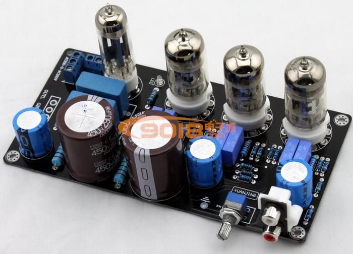 发烧胆味 6n4 电子管胆前级板(参考maratz 7电路)功放