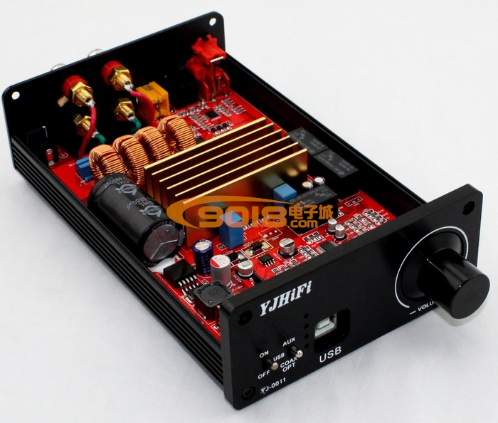 本品所有零部件均为原装正品,朴实无华,品质纯正;使用优质原装零部件,不仅仅是安全质量得到保障,使用寿命长,更重要是使实际性能能达到设计目标的强有力保证。追求第一流的品质是本店的一贯宗旨。 n 采用原装TDA7498 TE7022 CS4398 CS8416 SGM8054 n 耦合电容采用西门子顶级电容2.
