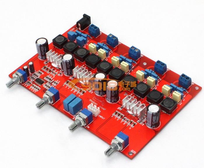 tpa3116 4.1声道低音炮d类数字功放板(100w 50w*4)