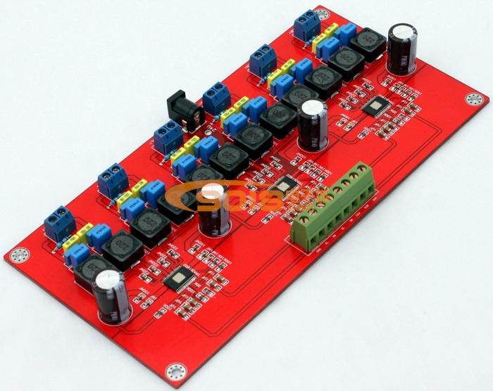 高性能tpa3116六声道d类数字功放板(50w*6)
