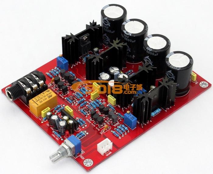 发烧音响 发烧电路 功放板 e19甲类耳放板 原装k2381/j407场效应管 带