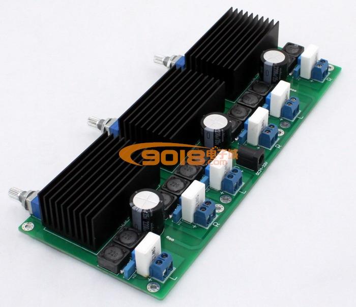 发烧音响 发烧电路 功放板 tda7498六声道d类数字功放板(6*100w)  n无