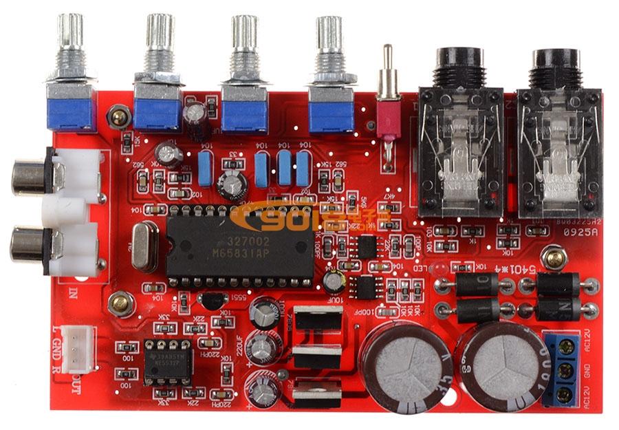 m65831ap+ne5532数字混响卡拉ok前级板