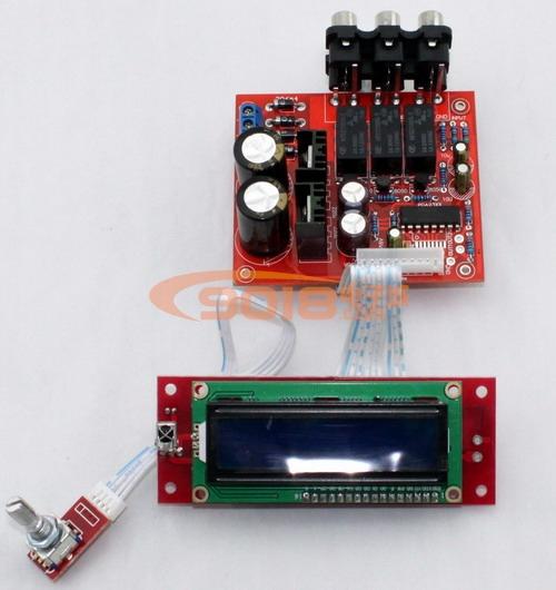 pga2310遥控电子音量控制前级板 带液晶屏显示 配遥控