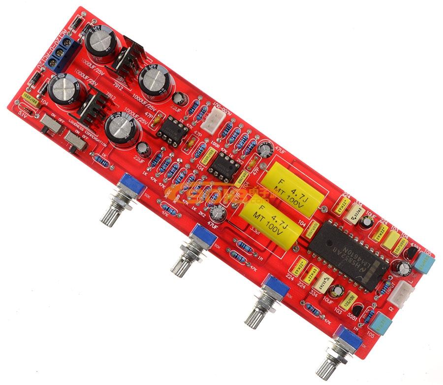 高保真发烧lm4610n环绕声3d音调板 成品板 低音/高音