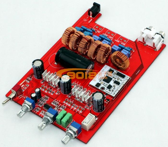 tpa3116 2.1低音炮带蓝牙接收d类数字功放板 (100w 50