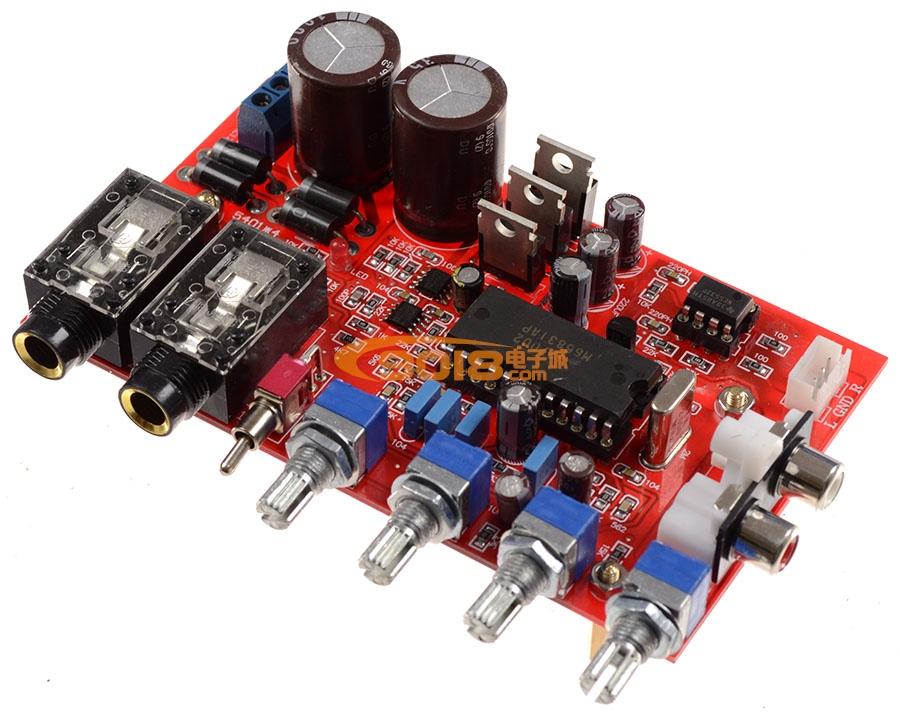 发烧电路 卡拉ok板 m65831ap+ne5532数字混响卡拉ok