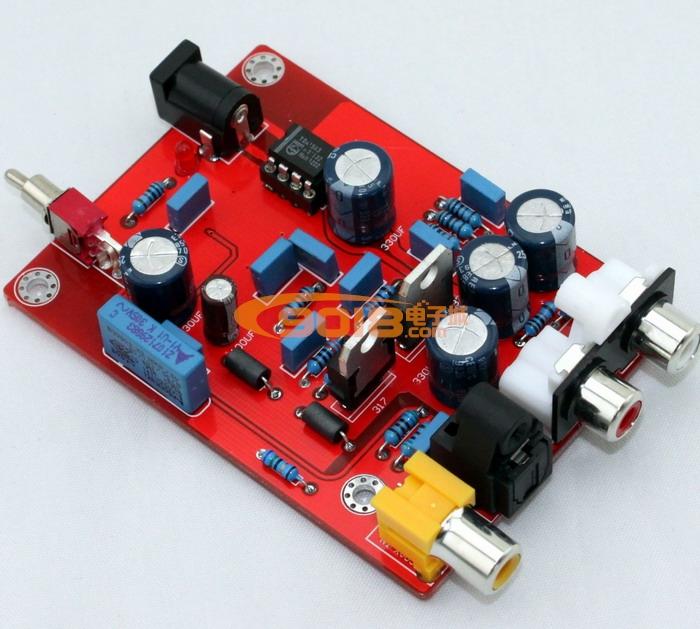 发烧音响 发烧电路 dac解码板 飞利浦 tda1543+cs8412 解码板 dac数字