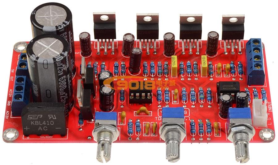 1声道低音炮高保真发烧功放板(成品板 25wx2 50w超低音)