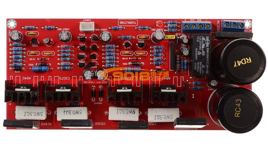 发烧电路 功放板 100w双声道原装tt1943/tt5200对管