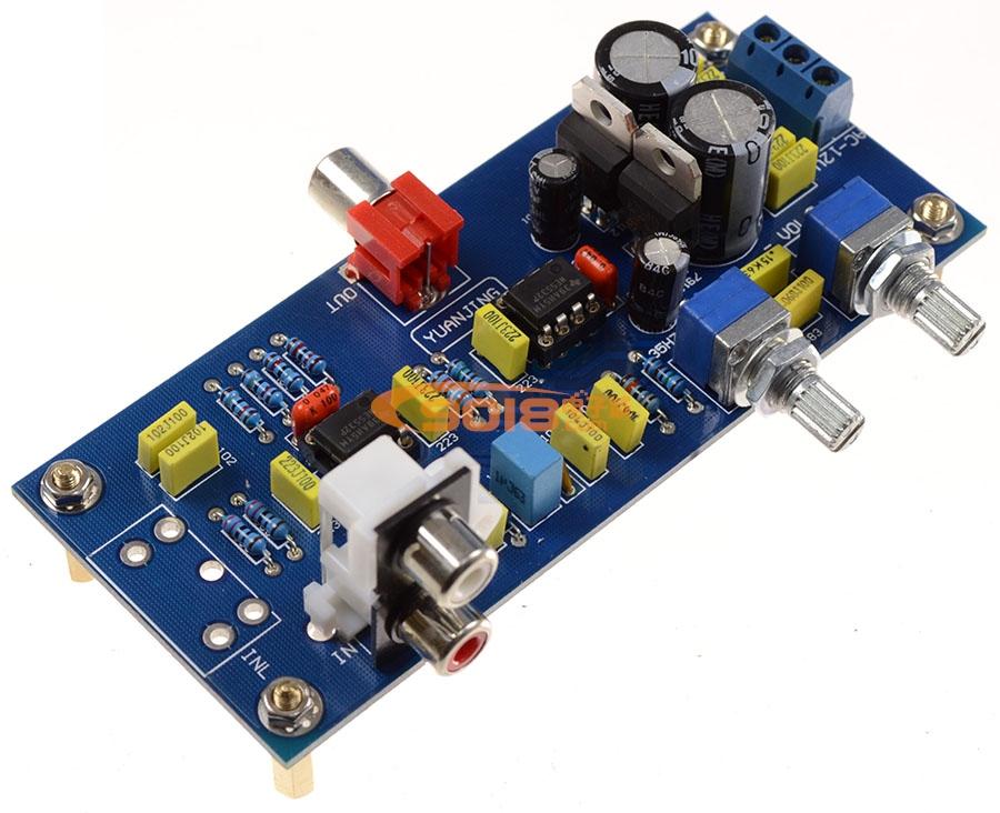 发烧音响 发烧电路 低通滤波板 ne5532超重低音成品板 低通滤波 电子