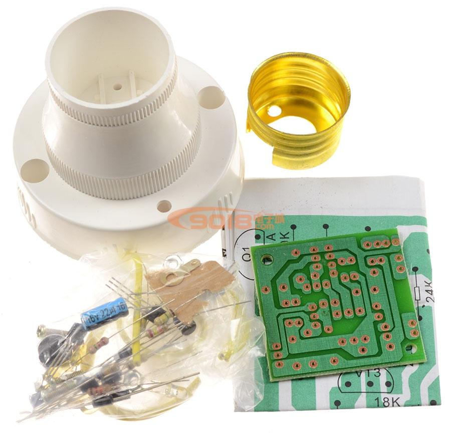 电子制作套件 led/灯控电路 恒兴牌hx-2056声光控开关螺纹灯座电子