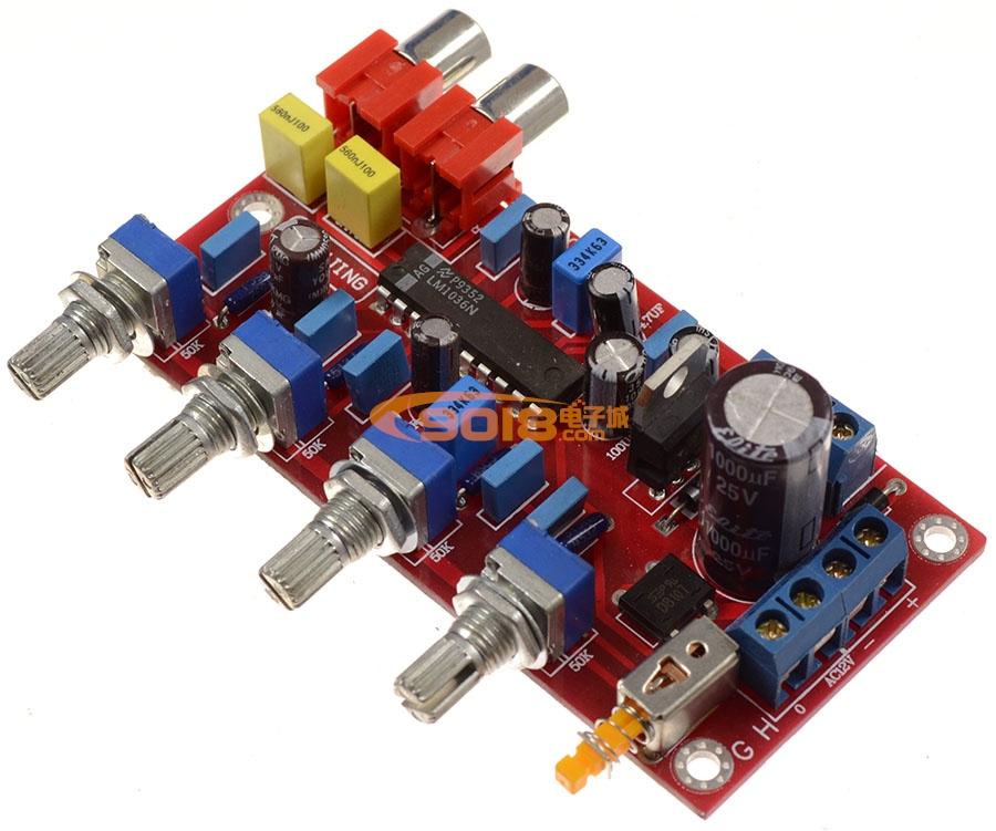 发烧音响 发烧电路 音调板 lm1036n直流控制发烧功放前级音调板 成品