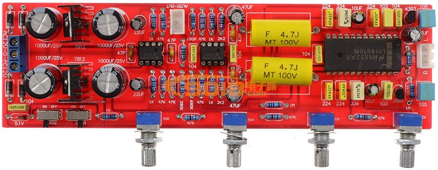 发烧音响 发烧电路 音调板 高保真发烧lm4610n环绕声3d音调板 成品板