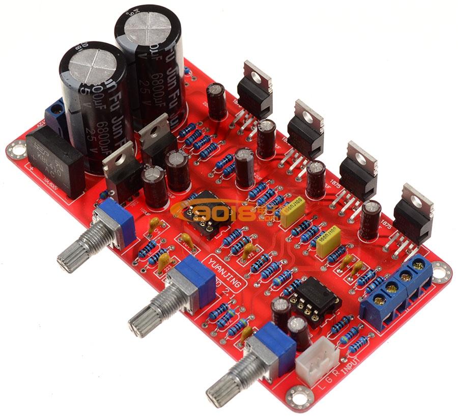 TDA2030A+NE5532超值组合2.1三声道低音炮高保真功放板(成品板)