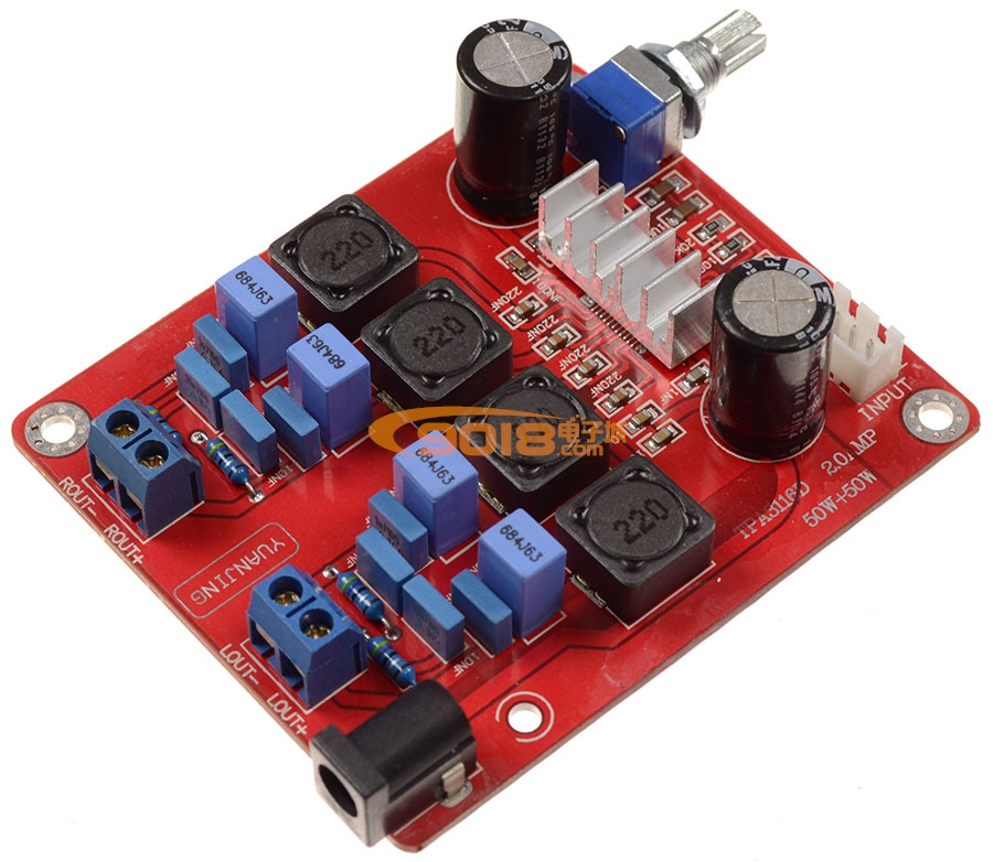 tpa3116功放板(50w 50w)d类数字功放成品板 高保真高性能
