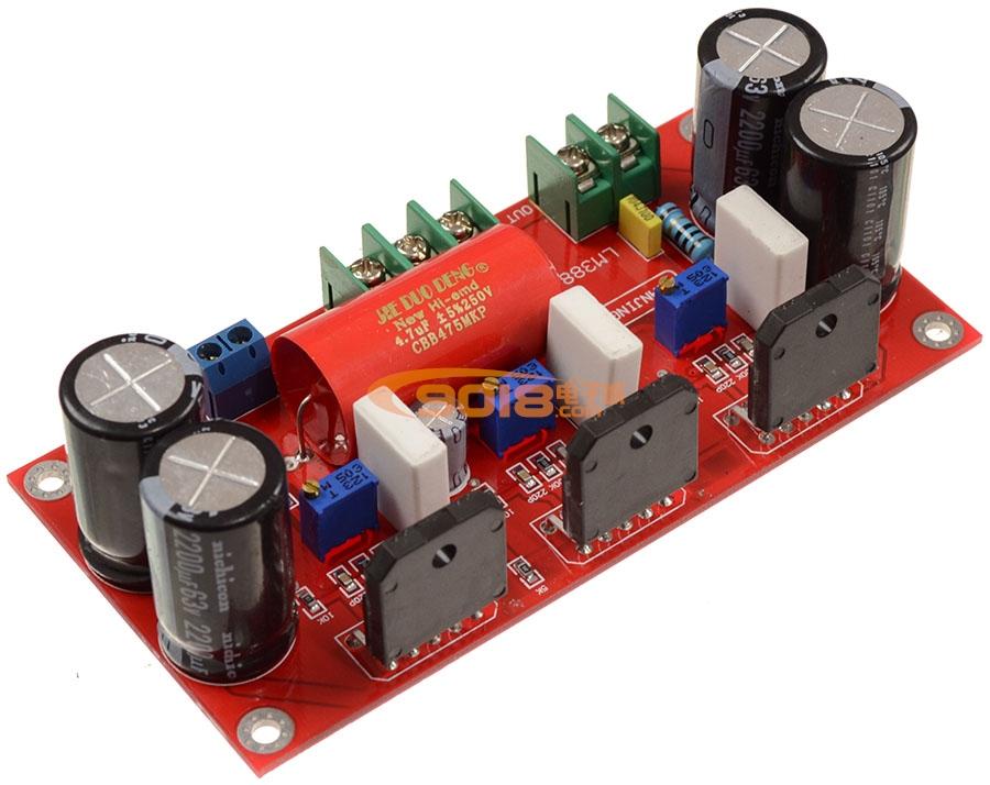 LM3886*3豪华发烧极品并联纯后级功放板 150W单声道 成品板